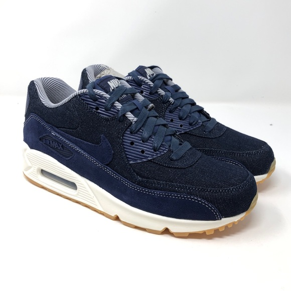 low priced ebc0a 0efed NIKE Air Max 90 SE Women s Shoes Denim Blue White